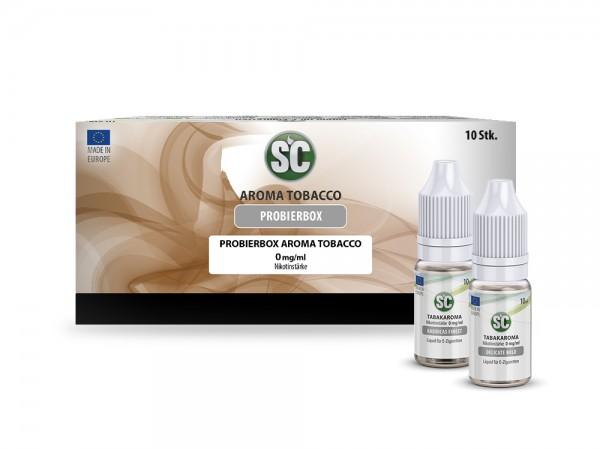 Probierbox Tabak Liquids von SC